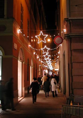 Luces de Navidad en Parma